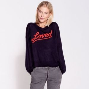 SUNDRY Loved Cashmere Blend Crew Neck Sweater